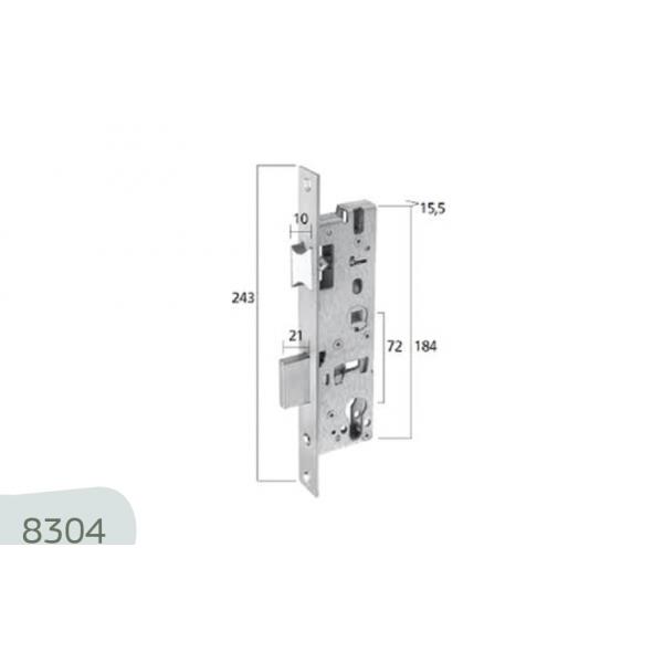 8304 Κλειδαριά DIN